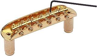 JD Puente de guitarra con rosca dorada con taza de montaje para Mustang Jazzmaster Jaguar