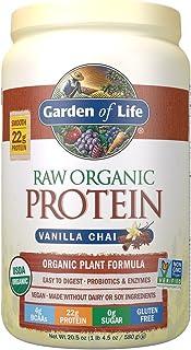 Garden of Life Raw Organic Protein Vanilla Chai Powder, 20 Servings *Packaging May Vary* Certified Vegan, Gluten Free, Org...