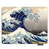 Ocean Gaming Mousepad Japanese The Great Wave Off Kanagawa Pattern Mouse Pad Rectangle Mouse Mat For Computer Desk Laptop Office 9.5 X 7.9 Inch Non-Slip Rubber 18x22cm