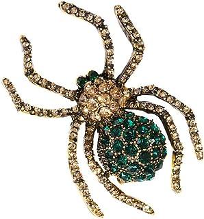 RETYLY Broche de Cristal de Arana de Aleacion de Moda para Vestidos de Mujer O Ropa de Mujer