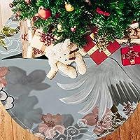 ツリースカート クリスマスツリースカート 鶴 すてき 和風 ホリデーデコレーション メリイクリスマス飾り 下敷物 可愛い 雰囲気 クリスマスパーティー 直径77cm