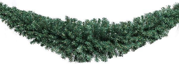 Jingle Jollys Christmas Garland 180CM 6FT Xmas Hanging Ornaments Décor Home Door Wall Green PVC Tips