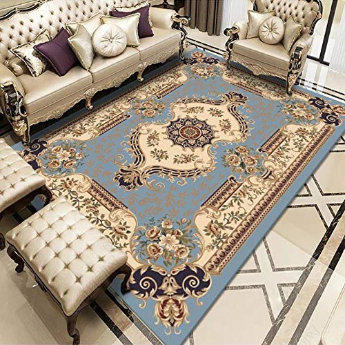 ZAZN Chinese Style Carpet. Home Bay Window Corridor Rectangular Floor Mat Bedroom Coffee Table Blanket Thick Wear-Resistant Washable Material