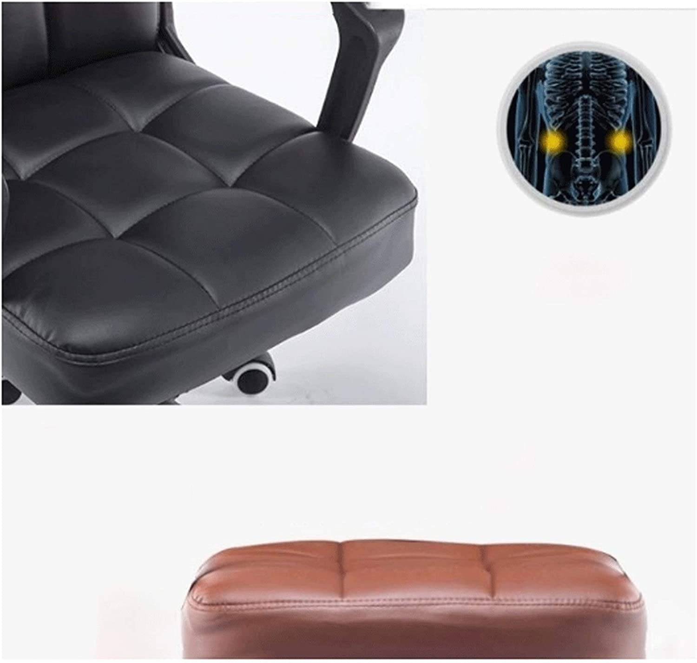 BKWJ Président de Jeu, Chaise de Bureau exécutif, Chaise pivotante, Stable et Durable, Hauteur réglable, Noir PU (Color : Black) Brown