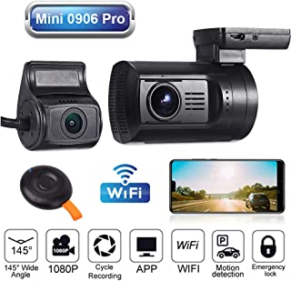 Blueskysea Mini 0906 PRO Dual 1080P Lens WiFi GPS Car Dash Camera Sony IMX327 Loop Recording Night Vision