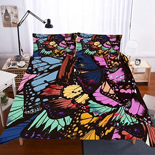 gorgeous butterfly print bedding set