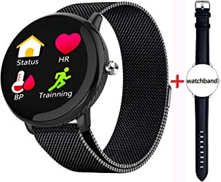 Smart Watch,Sports Bracelet,Heart Rate Health Watch,Pedometer,Birthday Present,Couple Watch,Synchronize Phone Calls and Messages,Black