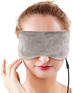 USB Eye Mask Heated Gel Sleeping Mask with Ice Pack, Hot Steam Eye Mask with Cooling Effect Cloth Backing for Eye Therapy,...