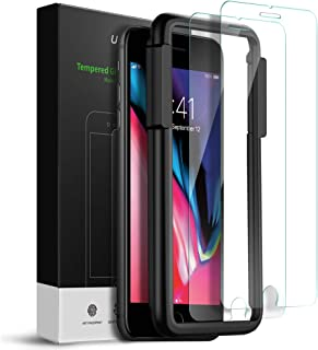 UGREEN 2 Pack iPhone Screen Protector for 5.5-inch iPhone 6 Plus/6s Plus/7 Plus/8 Plus, Tempered Glass HD Screen Saver, 9H Hardness, 2.5D Rounded Edge, Bubble-free, Face ID Compatible with Align Frame