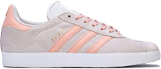 adidas Womens Originals Gazelle Trainers Sneakers in Footwear White/Pink Spirit/Copper Metallic.