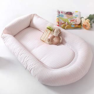 Little Grape Land Baby Lounger and Newborn Nest Sharing Co Sleeping Baby Revisible Bassinet,100% Cotton Premium Quality Cr...