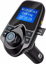 Jahyshow Bluetooth FM Transmitter Radio Car Kit Adapter With 1.44 Inch Display 5V 2.1A USB Car Charger Support Micro SD Card and USB Flash Drive