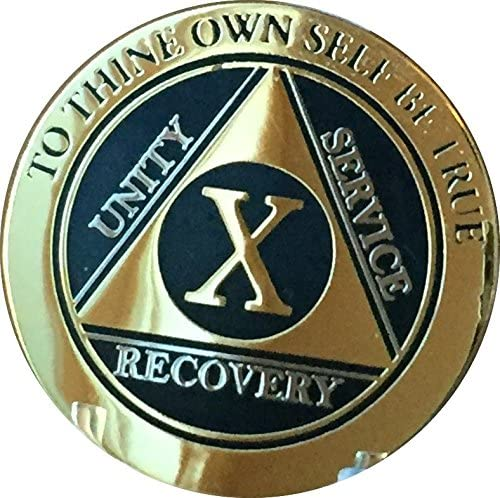 RecoveryChip 10 Year AA Trust Medallion Bi-P Gold Silver Black Elegant Limited time cheap sale