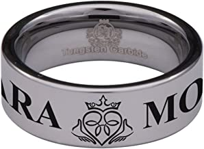 Friends of Irony Tungsten Carbide Mo ANAM Cara Wedding Band Anniversary Ring for Men and Women 8mm