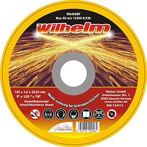 50 x Wilhelm Trennscheiben Ø 125 Edelstahl Metall Stahl Inox Blech Flexscheiben Extradünn