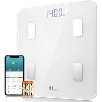 1byone Scales Digital Weight and Body Fat Scale, Bluetooth Bathroom Scale Track Key Body Compositions, 400lbs