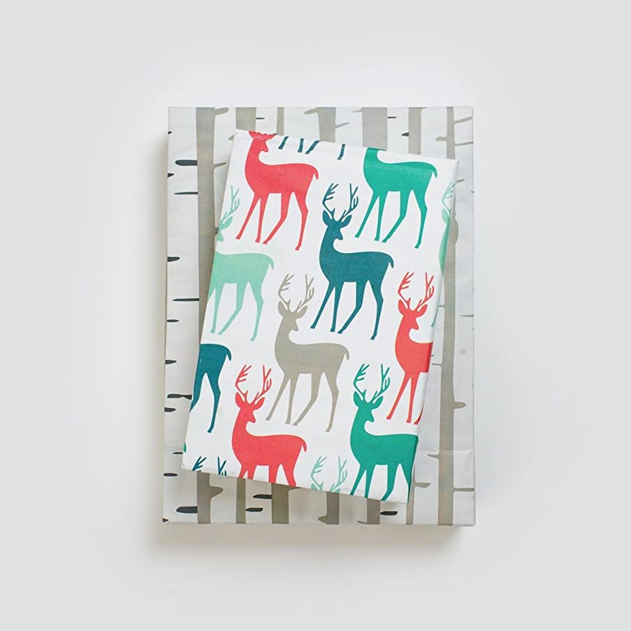WRAPPILY Stags/Birch 6-Sheet Pack, 1 EA