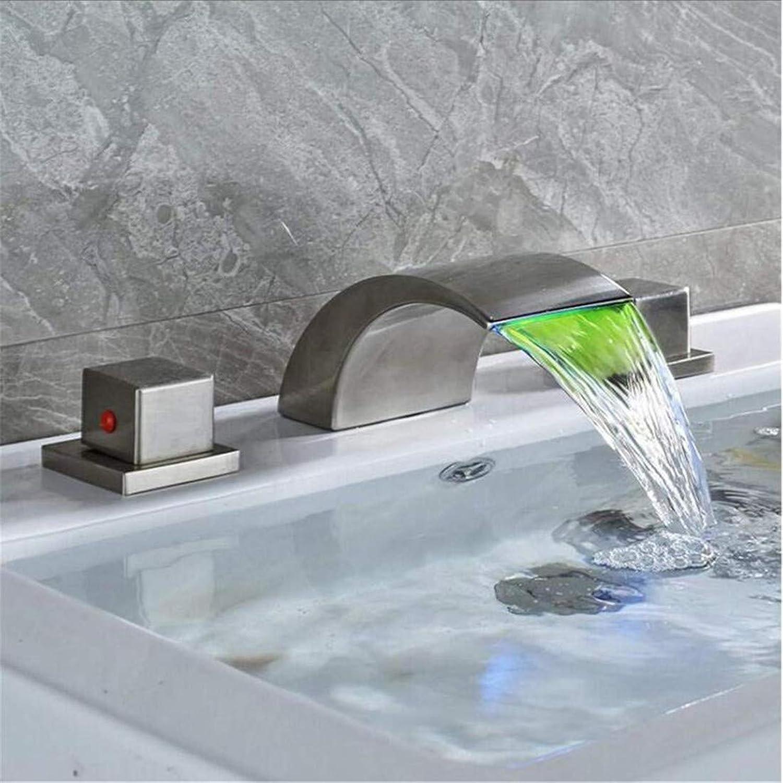 Retro Kitchen Bathroom Chrome Tub Sink Mixer Taps Brushed Nickel Washing Basin Mixer Tap Dual Handle Hot Cold Tap
