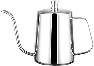 WEIXIAO WLKH Main perforée Pot Coffee Café avec Couvercle Thée à Goutte à Goutte à Goutte Longue (Couleur : Argent)
