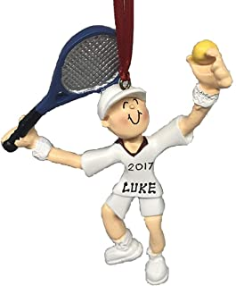 Personalized Boy Playing Tennis Christmas Ornament 2019