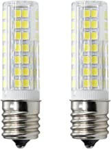 XRZT E17 LED Bulb for Microwave Oven Over Stove Appliance, 6 Watt(60W Halogen Bulbs Equivalent), 110-120V, Intermediate Base, Dimmable, 2-Pack (Daylight White)