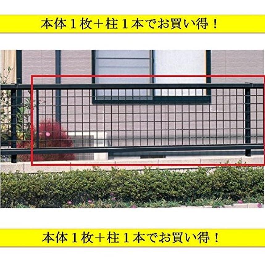将来の幻想前方へ本体1枚+フリー支柱1本のお得なセット 三協アルミ ニュータウンリード2型 フェンス フリー支柱タイプ 2008 『アルミフェンス 柵 高さ H800mm用』 ホワイト
