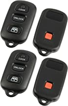 Key Fob Keyless Entry Remote Shell Case & Pad fits Toyota 1999-2009 4runner / 2001-2008 Sequoia