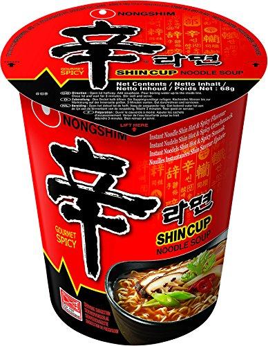 Nong Shim Instant Noodles Shin Shin - Paquete de 12 x 68 gr - Total: 816 gr