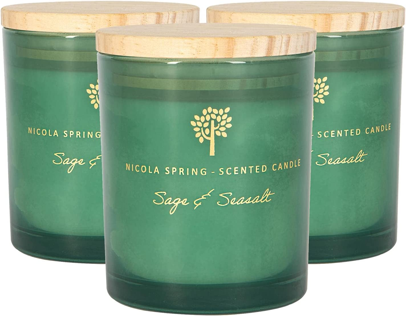 Nicola Spring Soy Wax Scented Aromatherapy Complete Free Shipping Glass - Long Beach Mall Candles Gift
