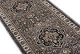 Läufer Teppich Flur in Grau - Orientalisch Klassischer Muster - Brücke Läuferteppich nach Maß - 80 cm Breit - AYLA Kollektion von Carpeto - 80 x 500 cm - 2