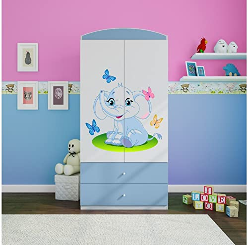 te hará satisfecho CARELLIA CARELLIA CARELLIA 'Armario Infantil Elephant 2cajones de almacenaje azul  tienda de ventas outlet