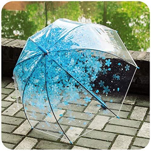 BDWS Paraguas Paraguas Infantil de Dibujos Animados, Lindo Paraguas Creativo para niños y niñasSakura Blue