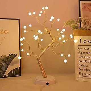 Árbol Bonsái Lámpara de Mesa,Luz de árbol Lámpara de árbol de Bonsai Luz de Noche de 36/60/108 LEDs Ramas de Perlas Luz de Escritorio Luz de Noche Dormitorio Interior Decoración del Hogar