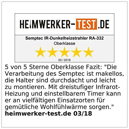 Semptec Urban Survival Technology Semptec Infrarotstrahler: Profi-IR-Dunkelheizstrahler m. Timer & Fernbedienung, 3.200 Watt, IP65 (Terrassenheizung) - 3