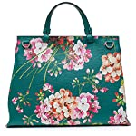 Fashion Shopping Gucci Teal Green Shanghai Blooms Top Handle Flower Bag Handbag Authentic Italy New