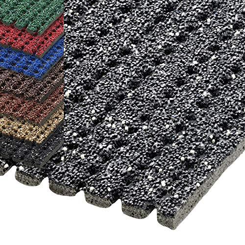 etm® Sicherheitsmatte gegen Glätte | rutschfeste Granulat Beschichtung | deutsches Qualitätsprodukt | 120 cm Breite | viele Farben und Längen (1 m Länge, grau)
