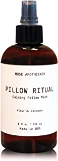 Muse Bath Apothecary Pillow Ritual - Aromatic and Calming Pillow Mist, 8 oz, Infused with Natural Essential Oils - Fleur d...