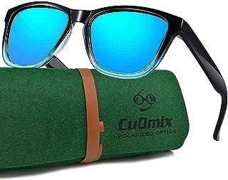 CuOmix - Polarizadas Gafas de Sol Mujer Hombre, Retro Redondas Medio Marco Clásico Uno y Dos Paquetes XNSG1-5