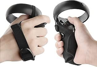 Geekria 控制器套,可与 Oculus Quest VR、Rift S、可水洗防护套 VR 游戏耳机控制器替换件,Oculus Touch Controller 保护膜(黑色,一对)