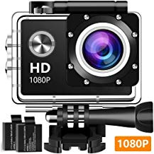 $30 » Action Camera, 12MP 1080P 2 Inch LCD Screen, Waterproof Sports Cam 120 Degree Wide Angle Lens, 30m Sport Camera DV Camcorder with with 2 Rechargeable Batteries and Mounting Accessories Kit 5