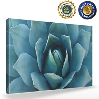 Wall Art Blue Agave Canvas Prints Agave Flower Large Art Canvas Painting Large Canvas Wall Art Print Home Office Decorations,12x16 inch