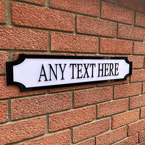Personalised 3D Street Sign | 8 Colours | Waterproof | Custom Garden Sign | Family Sign