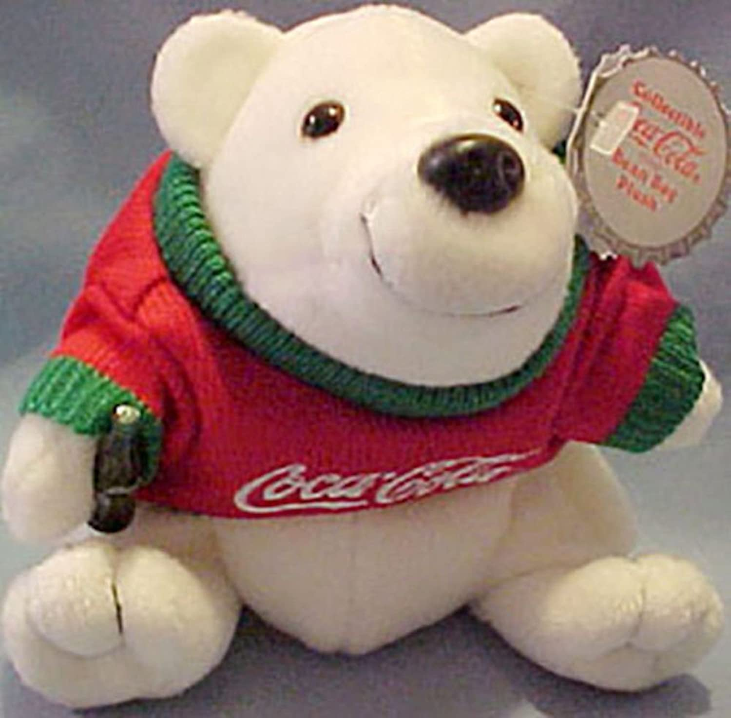 Coca Cola Polar Bear In Red & Green Sweater w  Logo  0116 by Cavanaugh Group by Coca-Cola