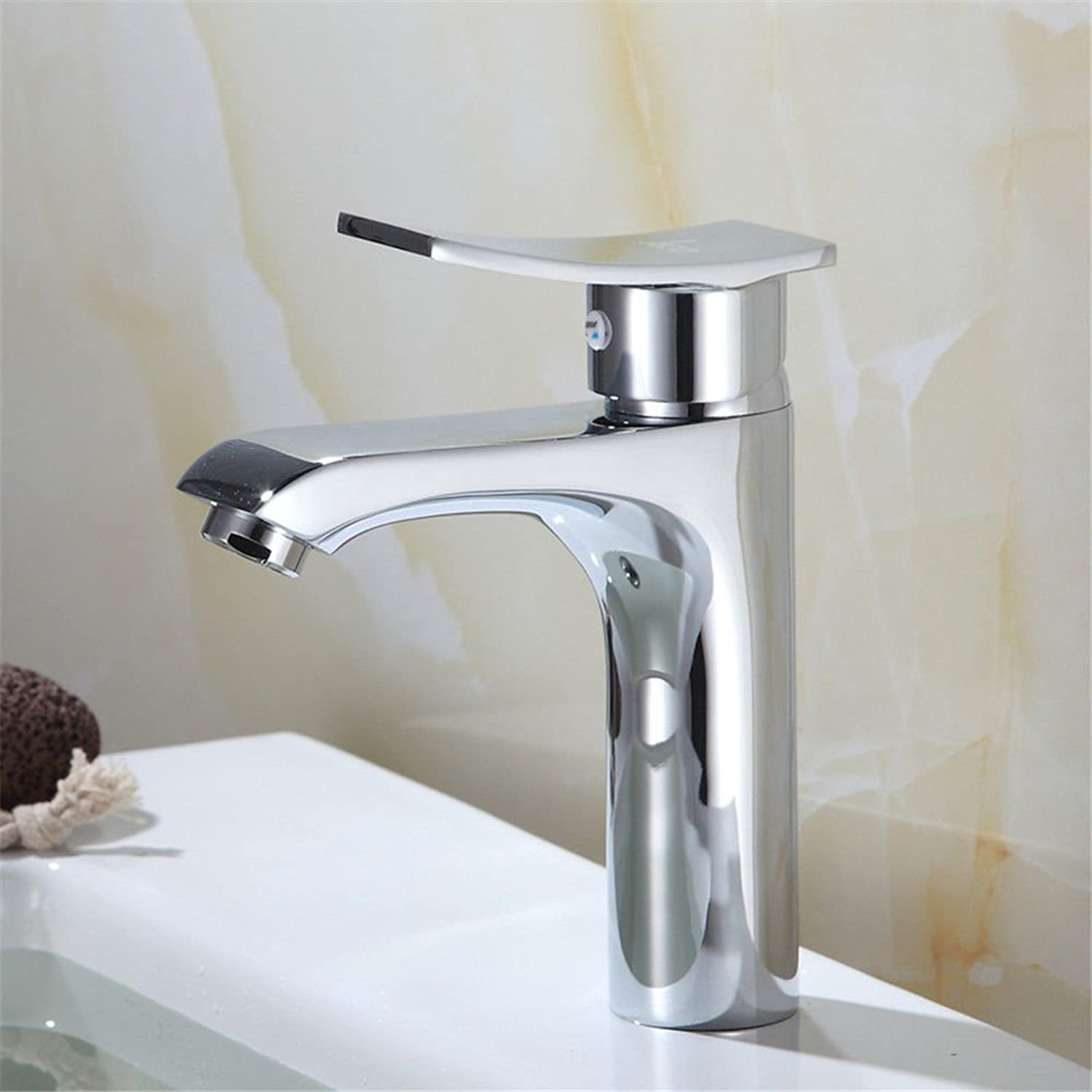 Hlluya Professional Sink Mixer Tap Kitchen Faucet The copper hot and cold basin faucet single hole paint bathroom vanity faucet mixing valve faucet,