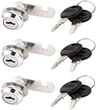 3 STKS 18mmx20mm Draad Cilinder Cam Lock w 6 Sleutels voor Ladekast