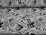 Jacquard Dekostoff Joshua, Zeitungen von Swafing,