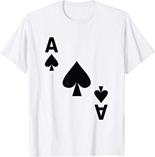 Ace of Spades Tshirt poker playing card costume tee shirt