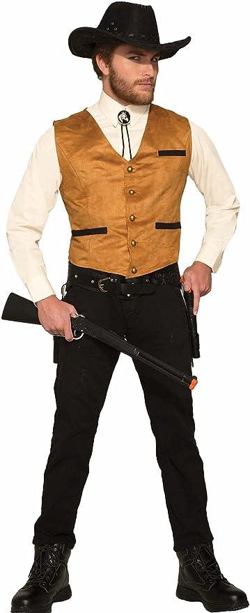 50 Men's Vintage Halloween Costume Ideas Forum Novelties Mens Cowboy Costume Vest Brown One Size  AT vintagedancer.com