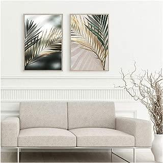 Moderne Toile Botanique Imprimer Aquarelle Bambou Zen Mur Affiche Peinture Art Photo Home Room Decor 40x50 cm Avec cadre vert