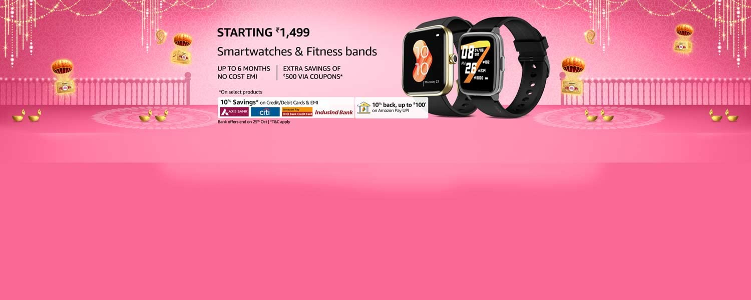 amazon.in - Up to 60% discount on Smartwatches and Fitness bands